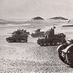 Stuart M3, Honeys on patrol in North Africa